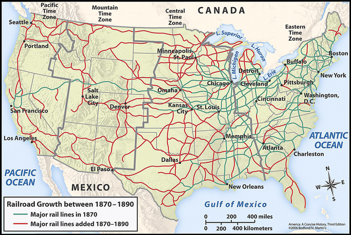 David Phangs Us History Blog Technology Then And Now - Old us railroad map
